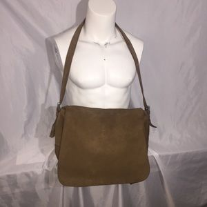 PRADA tan suede MESSENGER crossbody bag $3200